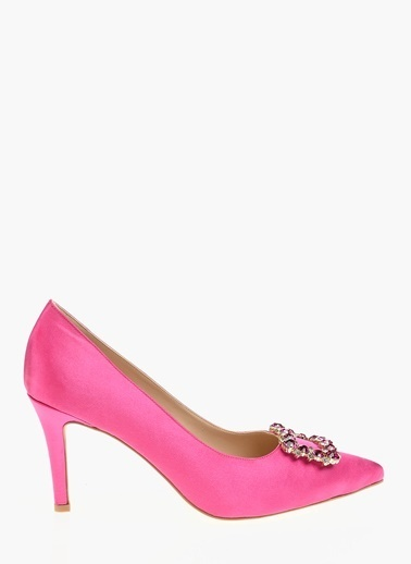 Divarese İnce Topuklu Taşlı Ayakkabı Fuşya